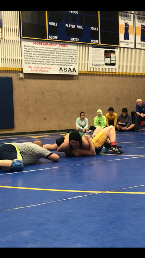 Kyleigha Wilson going for the pin.