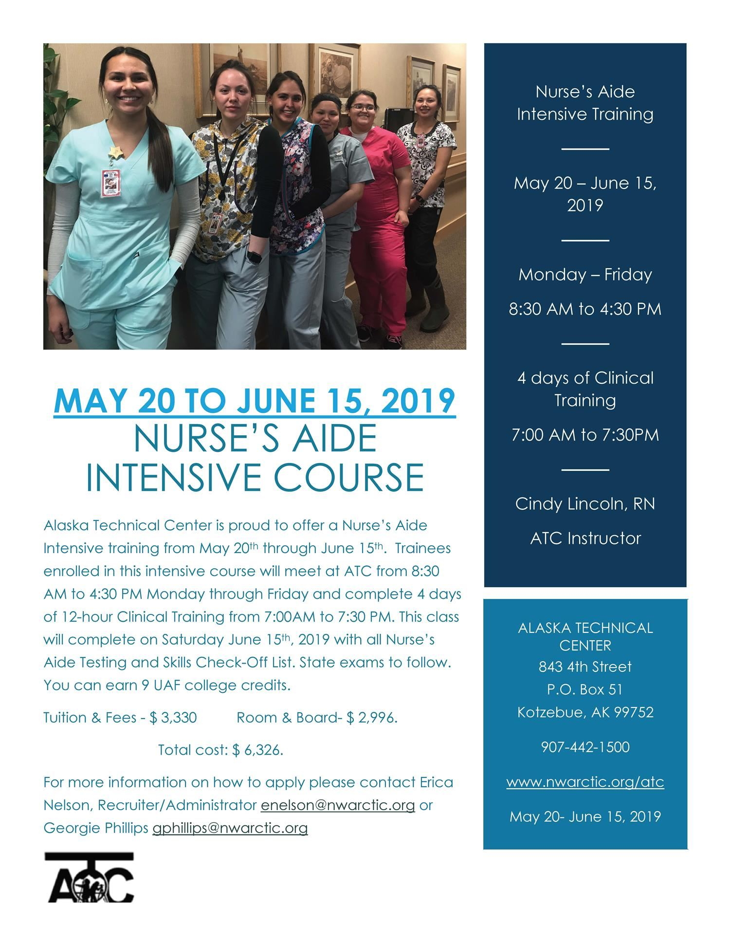 Summer Certified Nurses Aide Class!! CLICK HERE FOR AN APPLICAITON