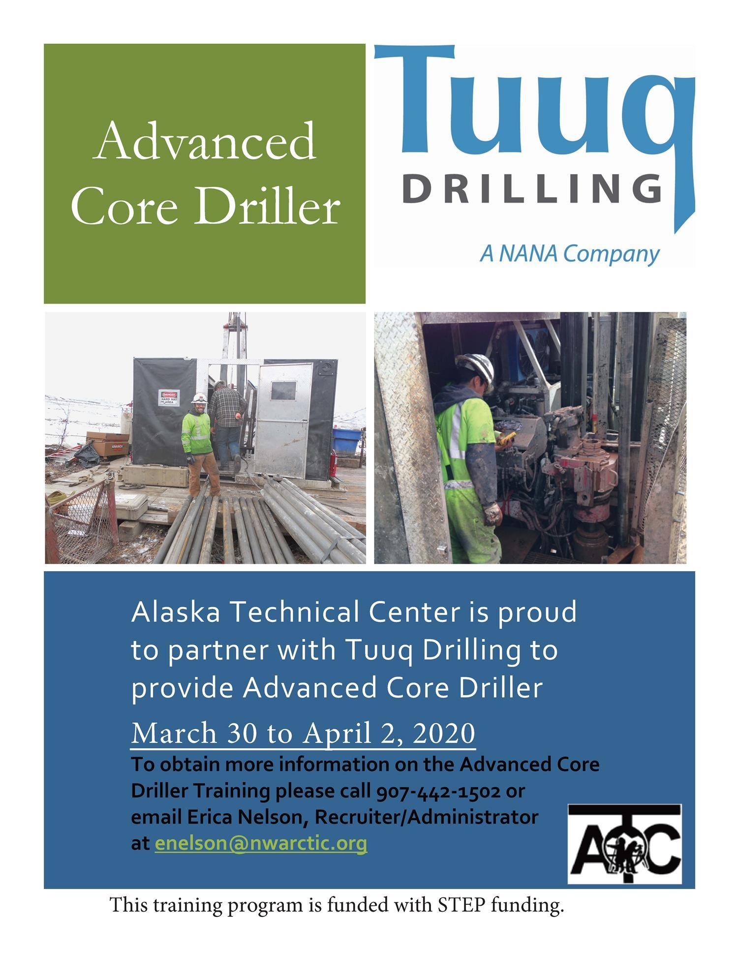 Advance Core Driller (click here for an application)