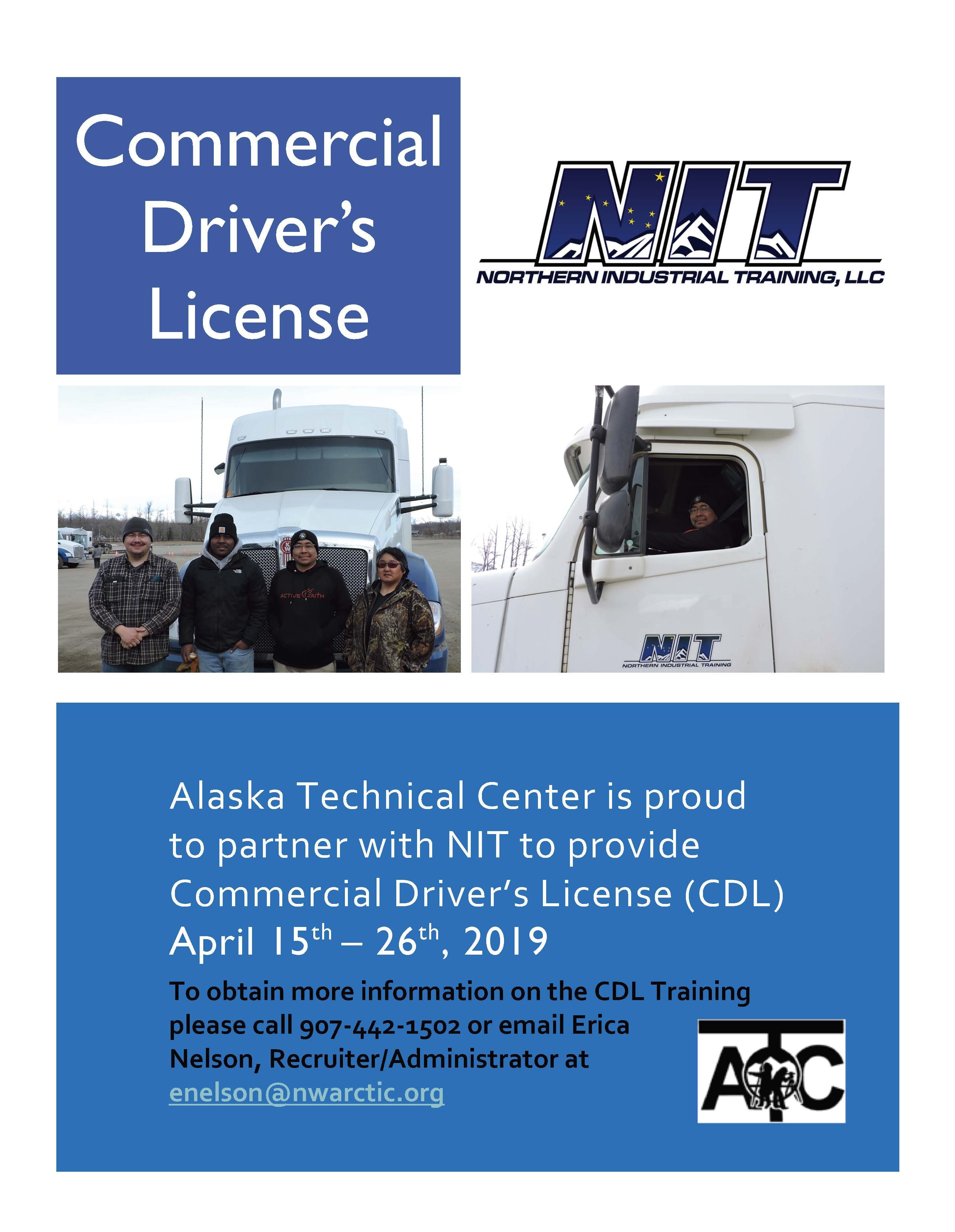 CLICK HERE FOR APPLICATION -CDL Training