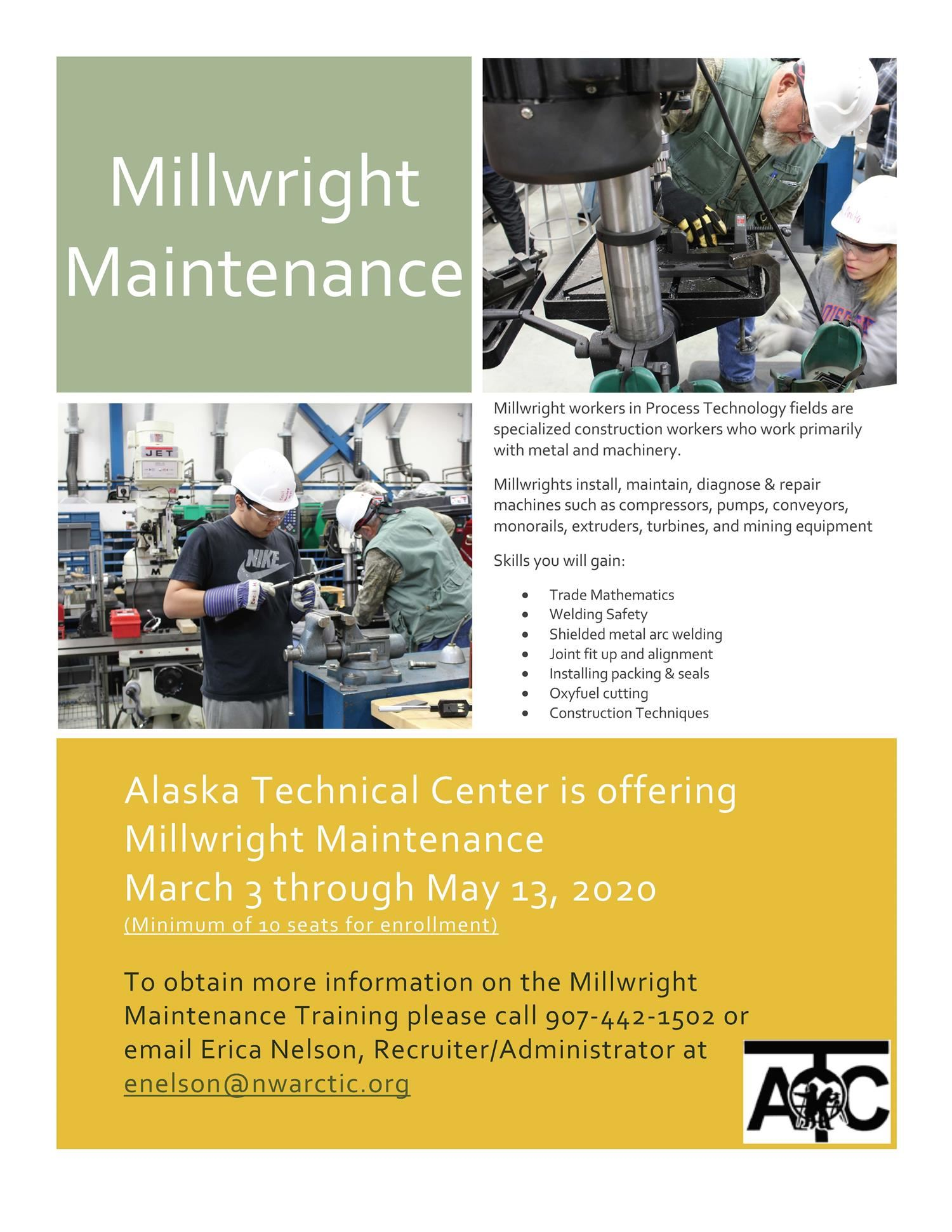 Millwright Maintenance Program (click here for an application)