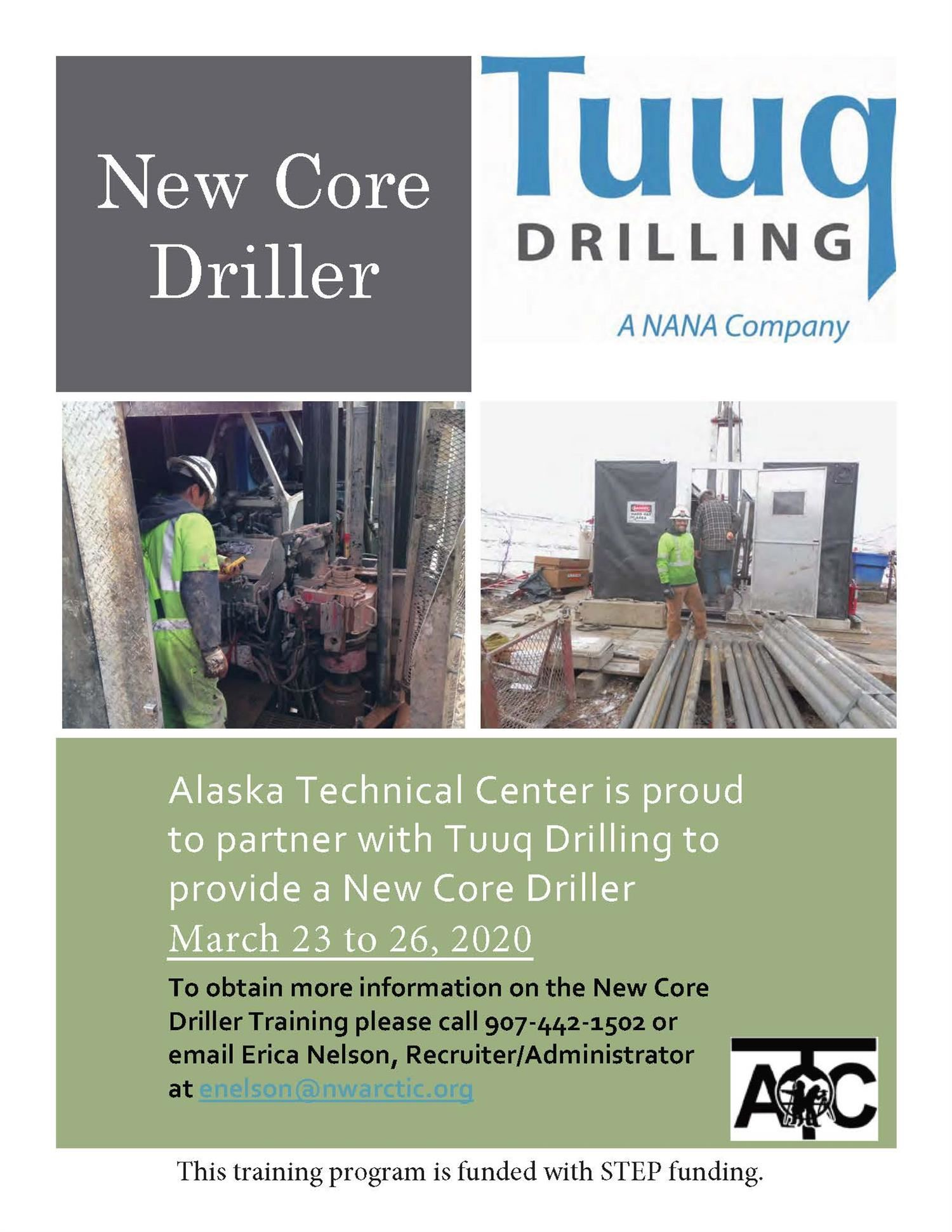 New Core Driller (click here for an applicaiton)