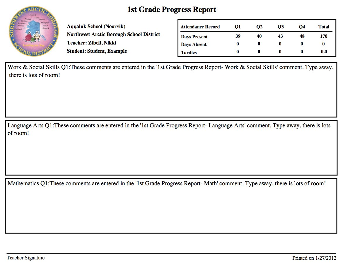 Teachers teachers for First grade progress report template