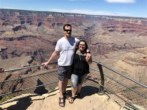 My husband, Bradley Johnson, and I at the Grand Canyon.